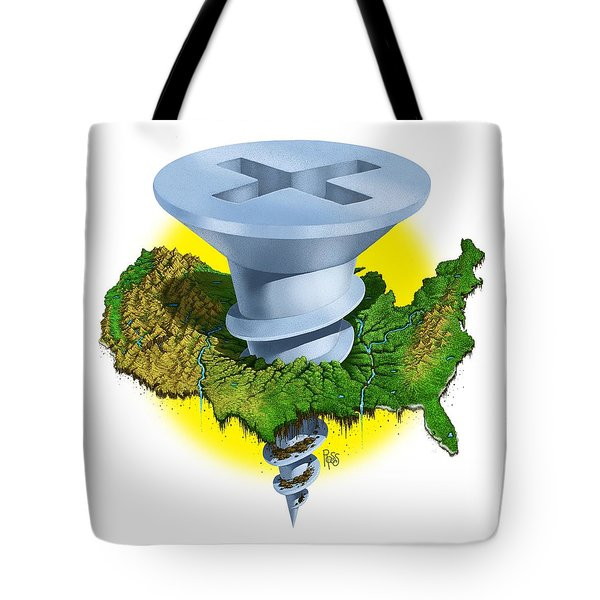 Screwed Tote Bag by Scott Ross