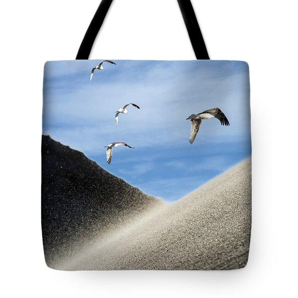 Seagulls Tote Bag by Michael Mogensen