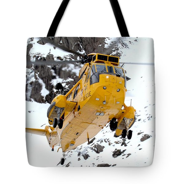 Seaking Helicopter Tote Bag by Paul Fearn