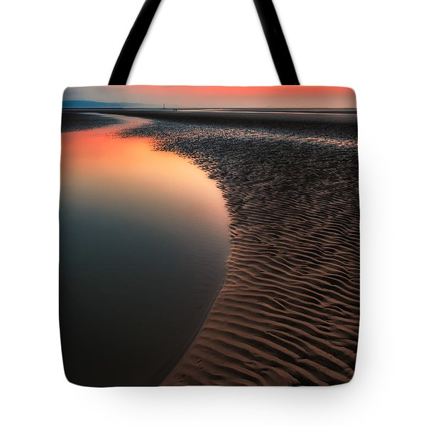Tote Bag featuring the photograph Seascape Sunset by Adrian Evans