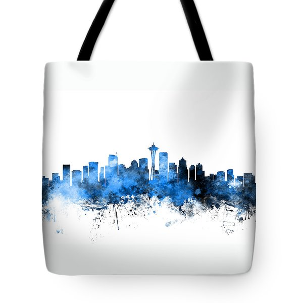 Seattle Washington Skyline Tote Bag by Michael Tompsett