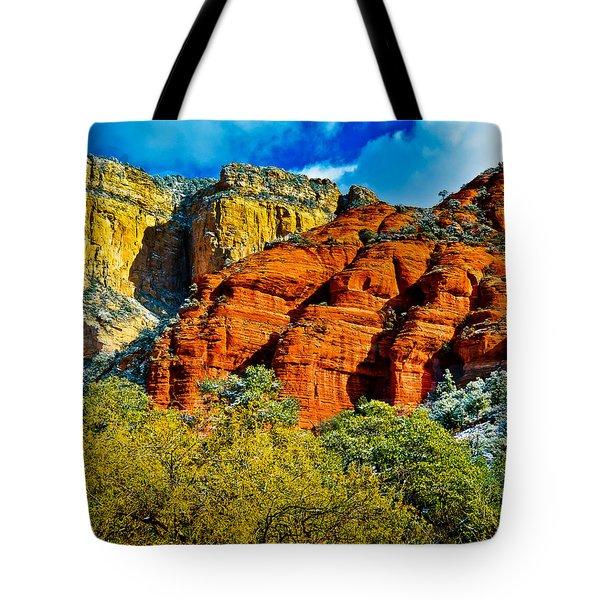 Tote Bag featuring the photograph Sedona Arizona - Wilderness Area by Bob and Nadine Johnston