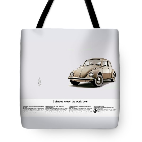 2 Shapes Known The World Over Tote Bag by Mark Rogan