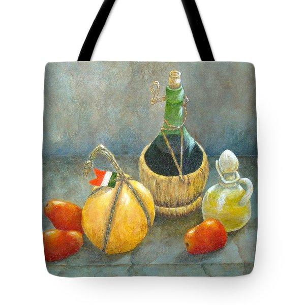 Sicilian Table Tote Bag by Pamela Allegretto