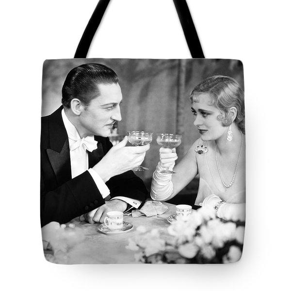 Silent Film Still: Drinking Tote Bag by Granger