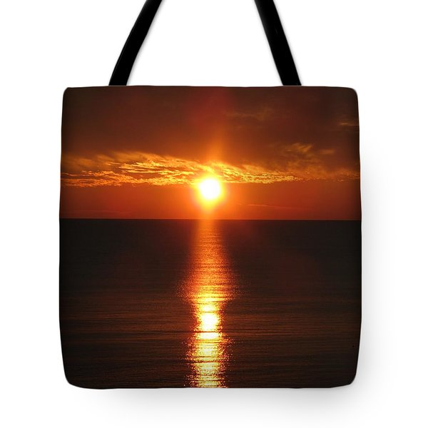 Sky On Fire Tote Bag by Christiane Schulze Art And Photography