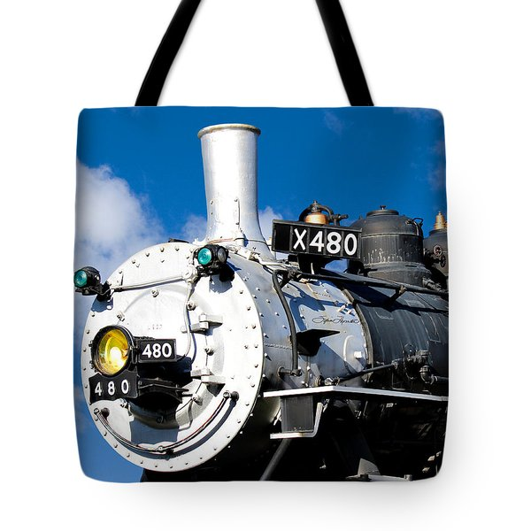 Smiling Locomotive Tote Bag