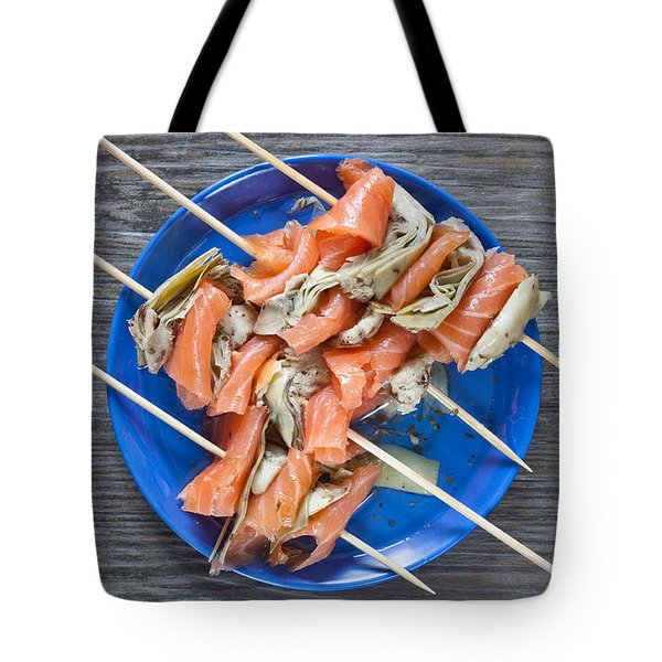 Smoked Salmon And Grilled Artichoke Tote Bag by Tom Gowanlock