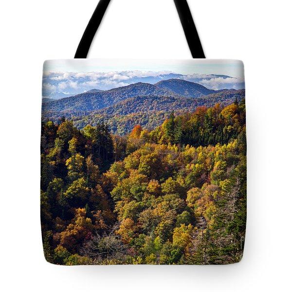 Smoky Mountain Color II Tote Bag by Douglas Stucky