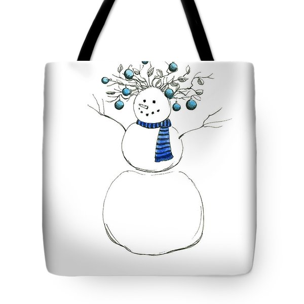 Snow Attire Tote Bag by Katherine Miller