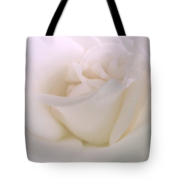 Softness Of A White Rose Flower Tote Bag by Jennie Marie Schell