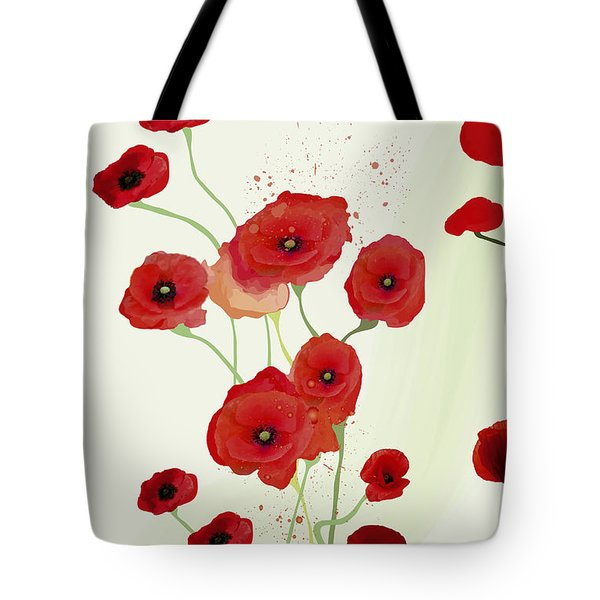 Sonata Of Poppies Tote Bag by Gabriela Delgado