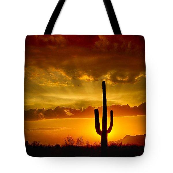 Southwestern Style Sunset  Tote Bag by Saija  Lehtonen