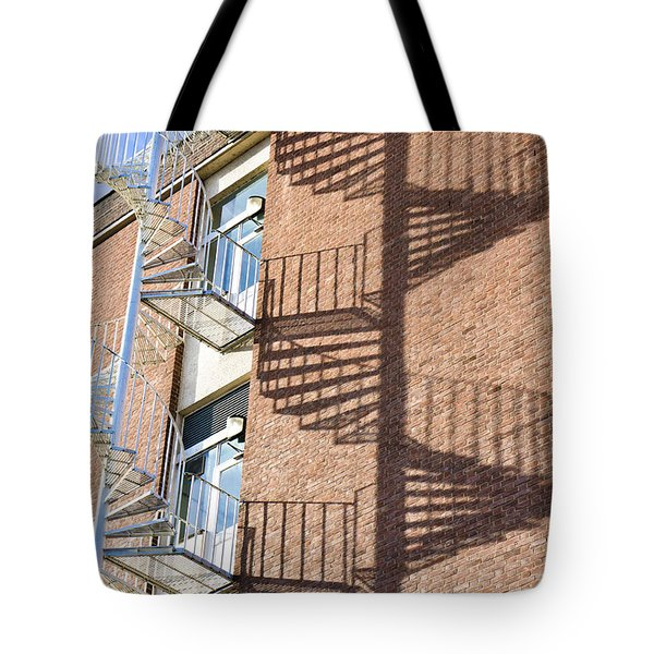 Spiral Staircase Tote Bag by Tom Gowanlock