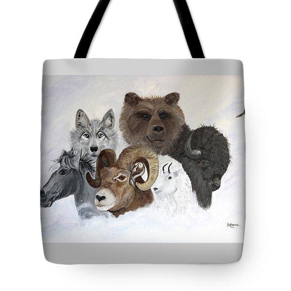 Spirit Totems Tote Bag by Judy M Watts-Rohanna