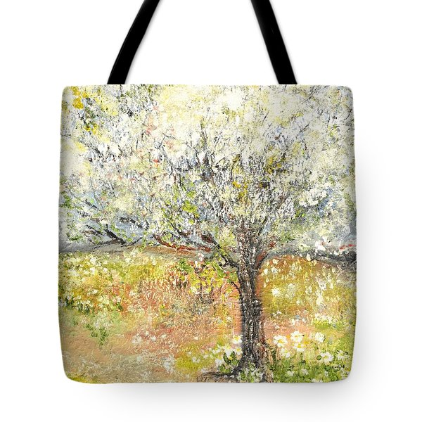 Tote Bag featuring the painting Spring by Evelina Popilian
