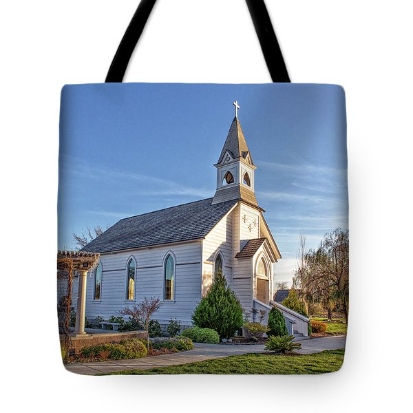Tote Bag featuring the photograph St. Mary's Chapel by Jim Thompson