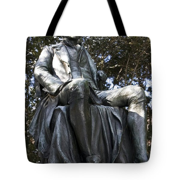 Statue Of Thomas Jefferson Sitting Tote Bag