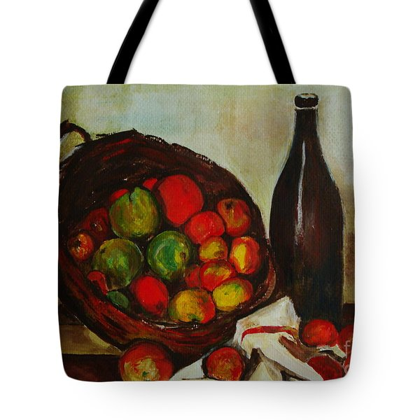 Still Life With Apples After Cezanne - Painting Tote Bag