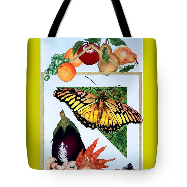 Tote Bag featuring the painting Still Life With Moth #1 by Thomas Gronowski