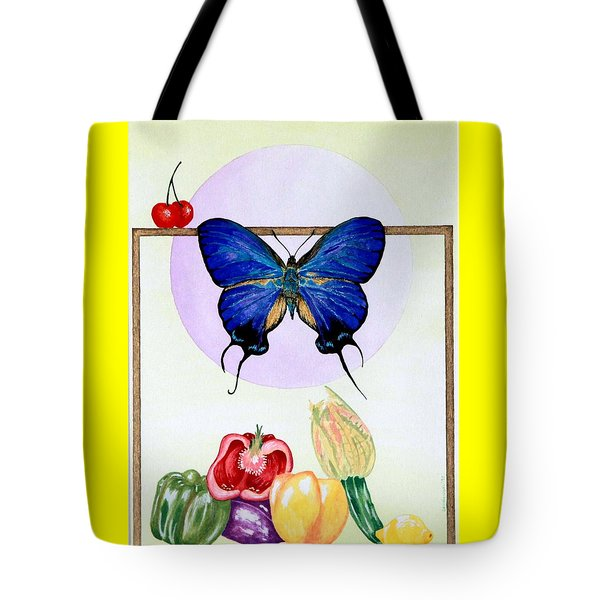 Tote Bag featuring the painting Still Life With Moth #2 by Thomas Gronowski