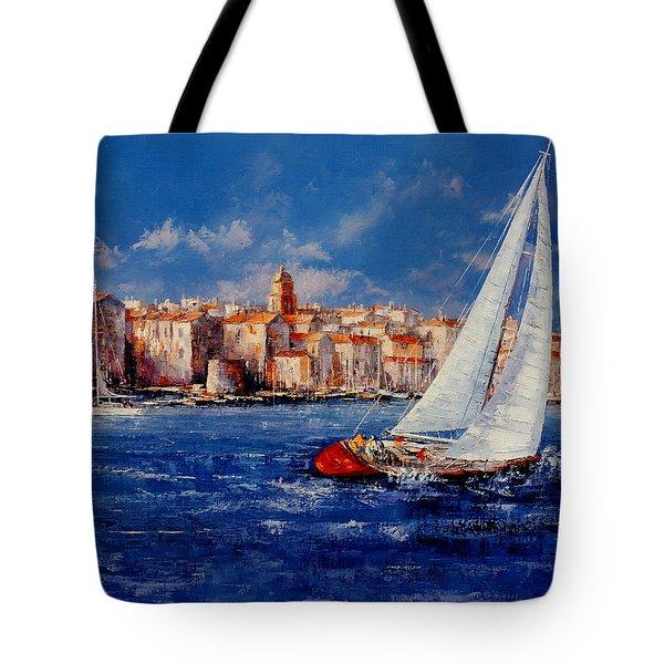 St.tropez - France Tote Bag by Miroslav Stojkovic - Miro