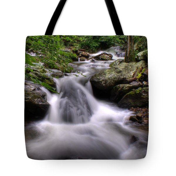 Tote Bag featuring the photograph Summer Cascade by Rebecca Hiatt