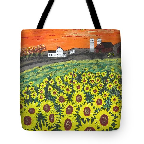 Sunflower Valley Farm Tote Bag