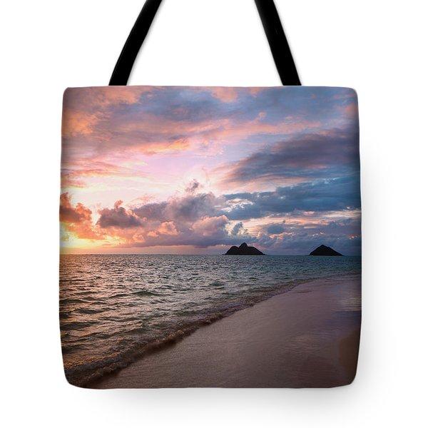 Sunrise At Lanikai Beach  Kailua Tote Bag