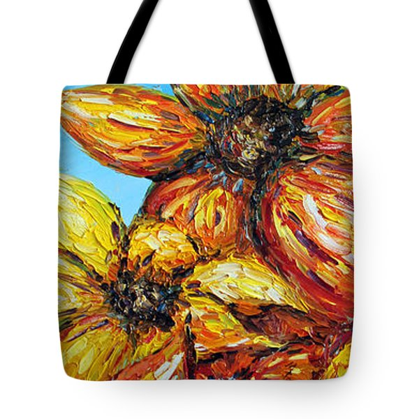 Tote Bag featuring the painting Sunrise by Meaghan Troup