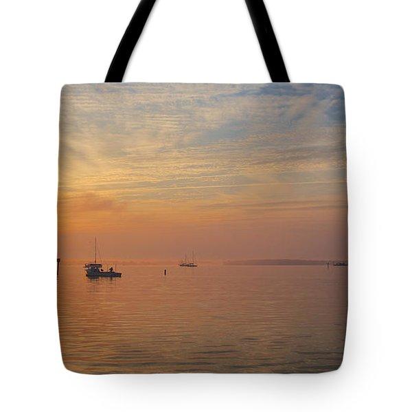 Sunrise On The Chesapeake Bay Tote Bag