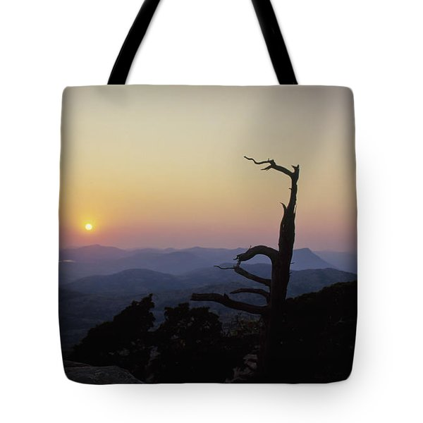 Sunset From Mt Scott Tote Bag
