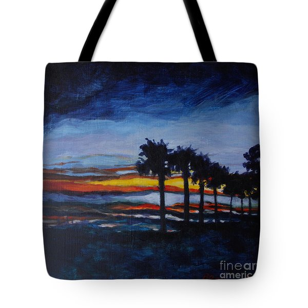 Sunset In St. Andrews Tote Bag by Jan Bennicoff