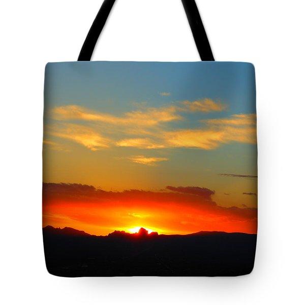 Sunset In The Desert Tote Bag