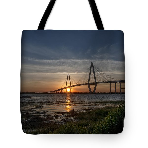 Sunset Over The Bridge Tote Bag