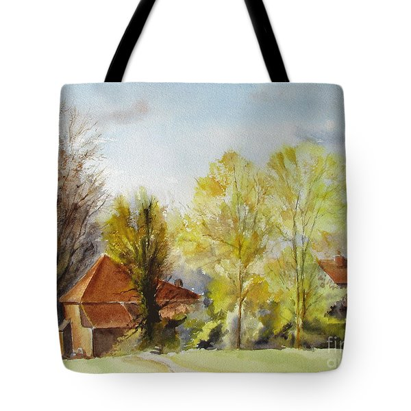 Tote Bag featuring the painting Sweet England by Beatrice Cloake