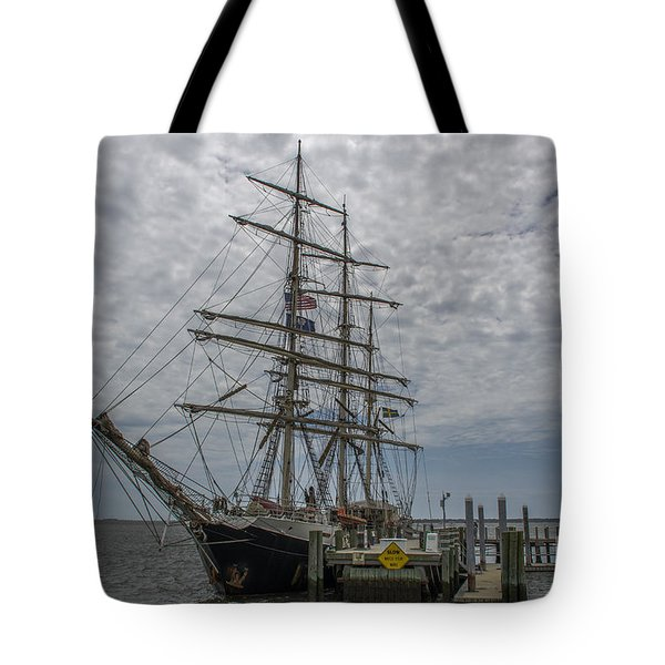 Tote Bag featuring the photograph Tall Ship Gunilla by Dale Powell