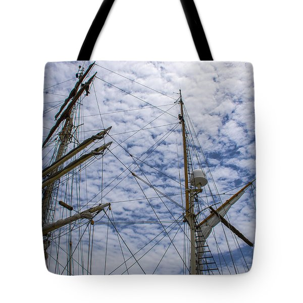 Tall Ship Mast Tote Bag by Dale Powell