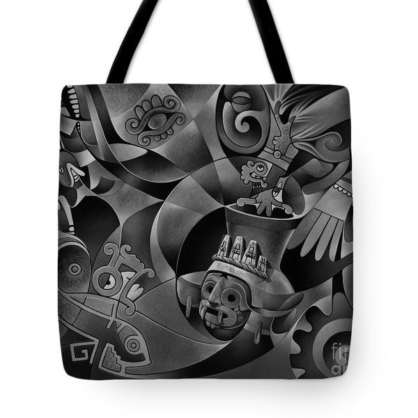Tapestry Of Gods - Tlaloc Tote Bag