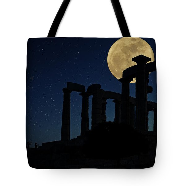 Temple Of Poseidon  Tote Bag
