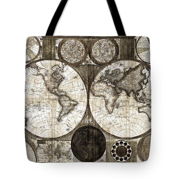 Terraqueous Globe - Map Of The World Tote Bag by EricaMaxine  Price