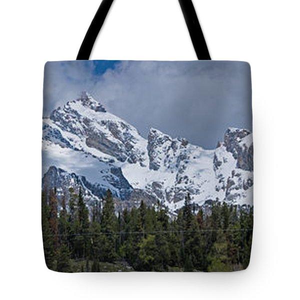 Large Tetons Panorama Tote Bag