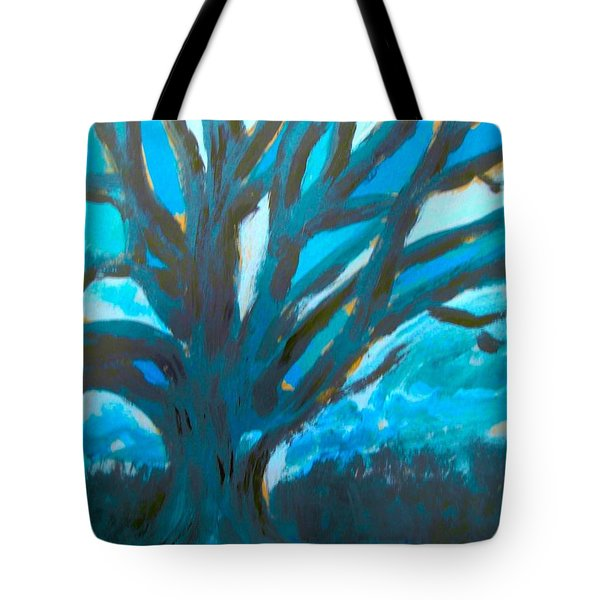 The Blue Tree Tote Bag