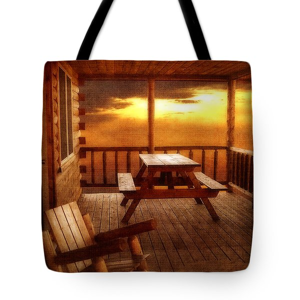 The Cabin Tote Bag by Joann Vitali