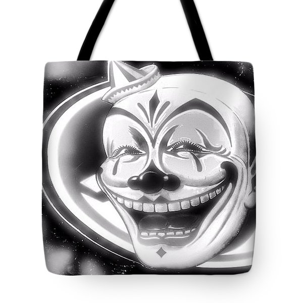 The Clown Wasn't Funny Tote Bag by Newel Hunter