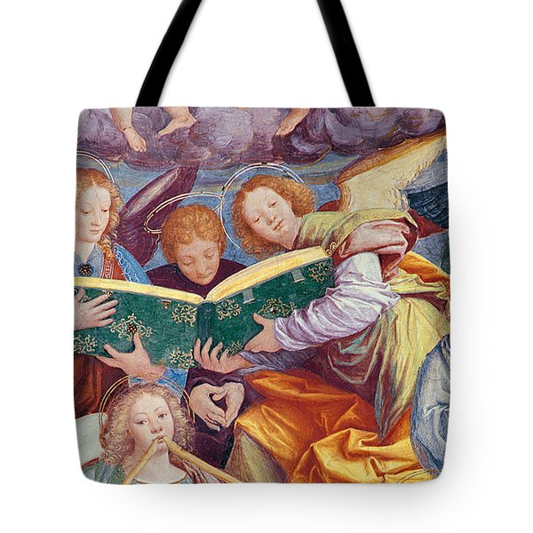 The Concert Of Angels Tote Bag by Gaudenzio Ferrari
