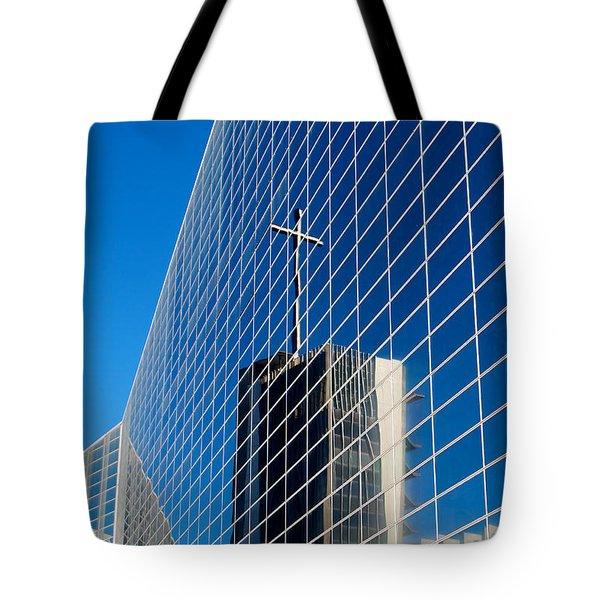 Tote Bag featuring the photograph The Crystal Cathedral by Duncan Selby