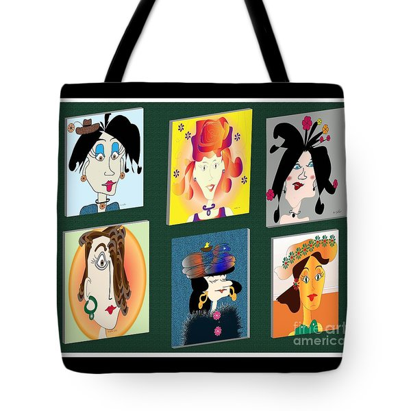 Tote Bag featuring the digital art The Gang by Iris Gelbart