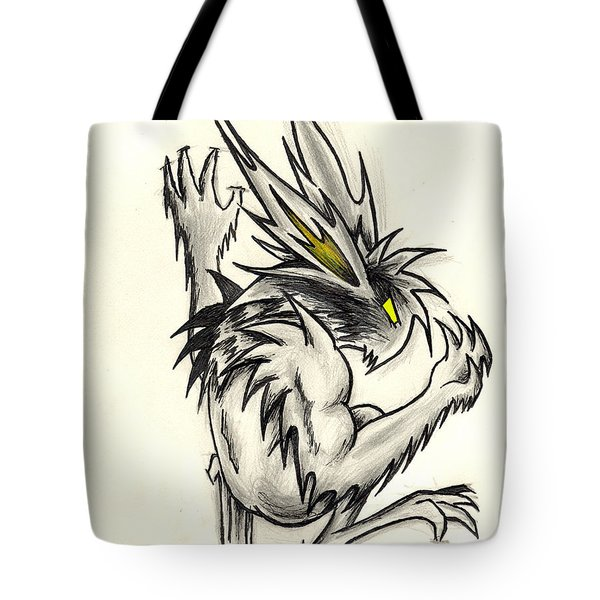 Tote Bag featuring the drawing The Gargunny by Shawn Dall