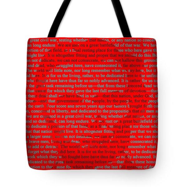 The Gettysburg Address Tote Bag